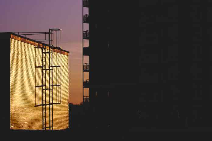 silhouette of building during golden house photo